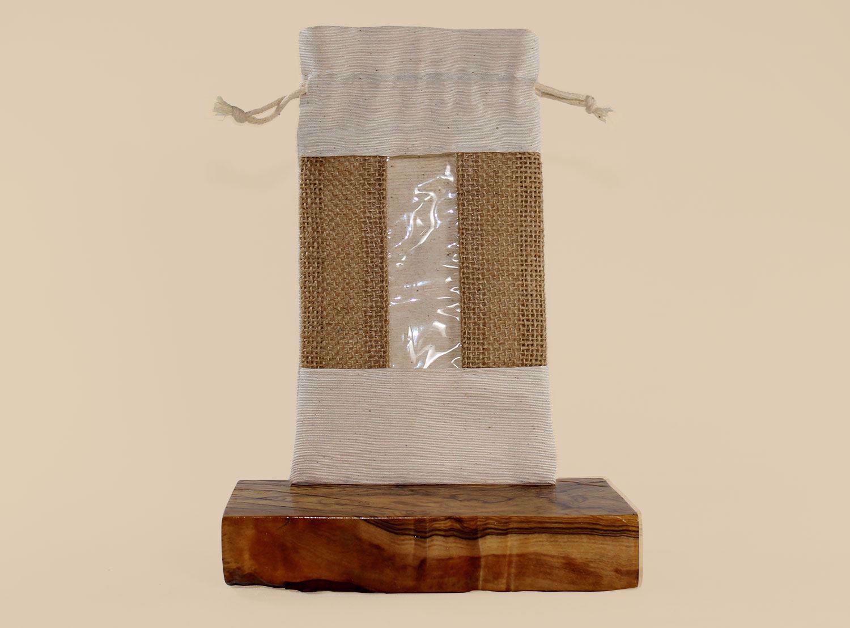 Εικόνα από Πουγκί από καραβόπανο και λινάτσα με παράθυρο
