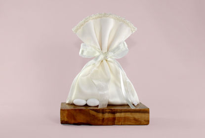 Picture of Wedding Favor Bags Satin duchesse lace Greek Bombonieres